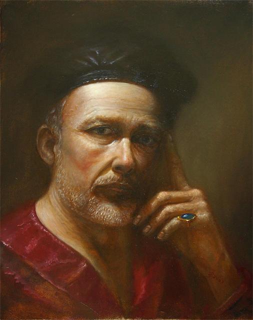 Portrait Painting - Self Portrait by Vaidotas Bakutis