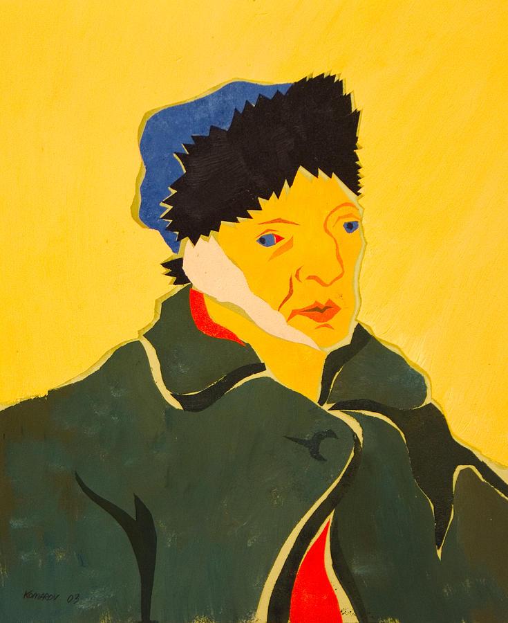 Van Gogh Painting - Self Portrait With Bandaged Ear. After Vincent Van Gogh by Vitali Komarov