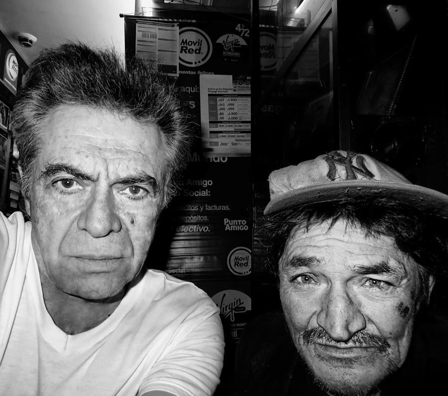 Portrait Photograph - Self Portrait With Friend   by Daniel Gomez