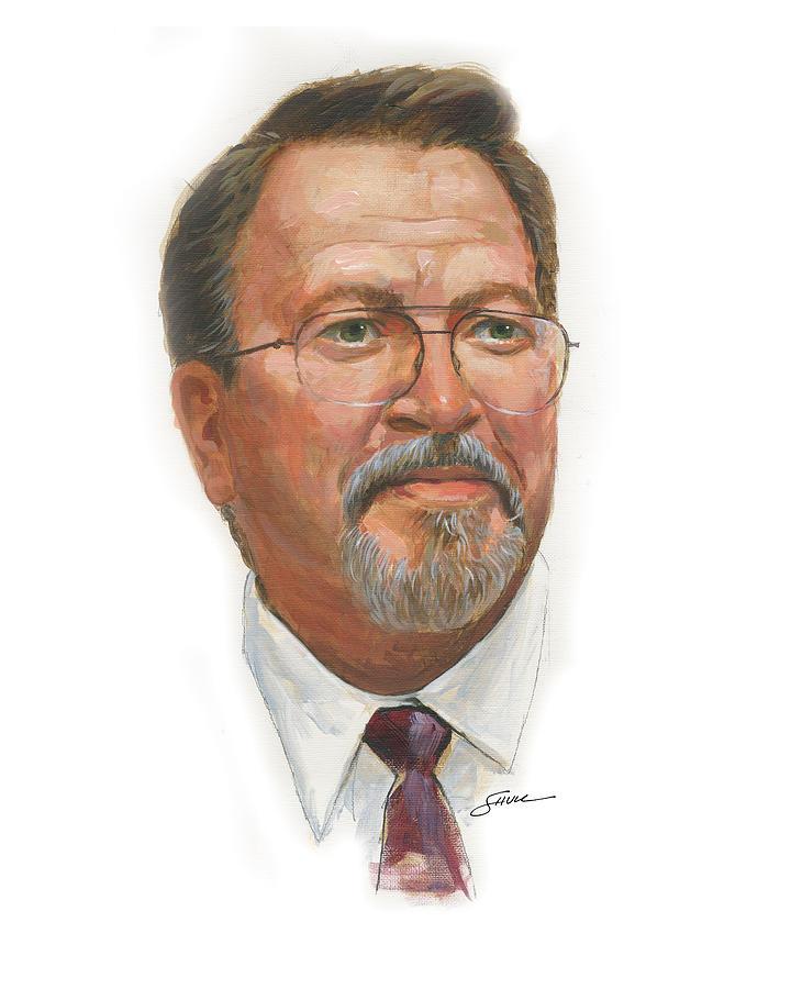 Self Portrait Painting - Self Portrait_2015 by Harold Shull