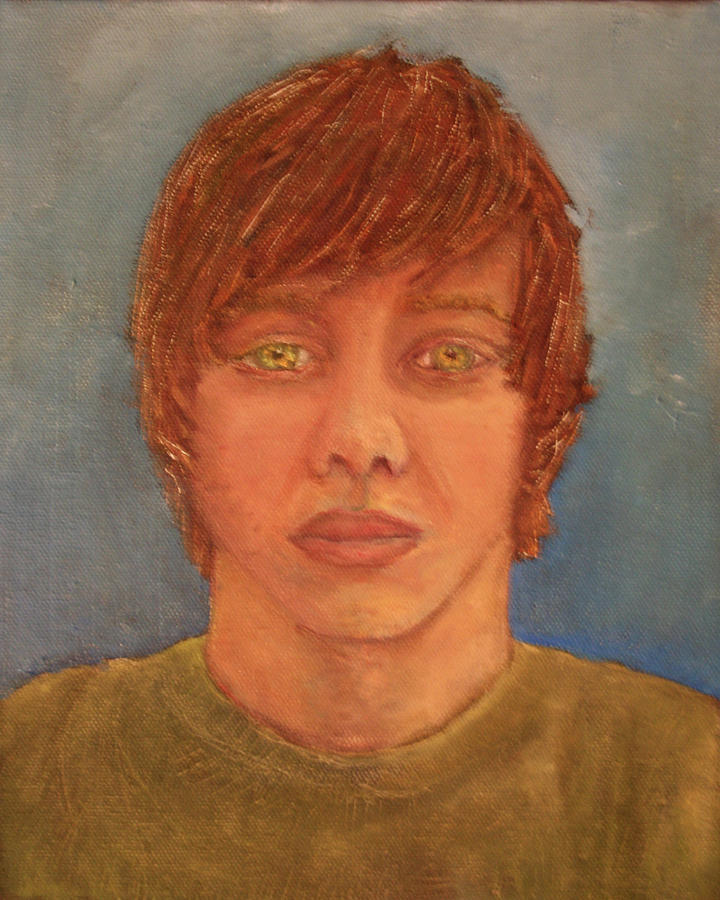 Self Potrait Painting by James Rickard