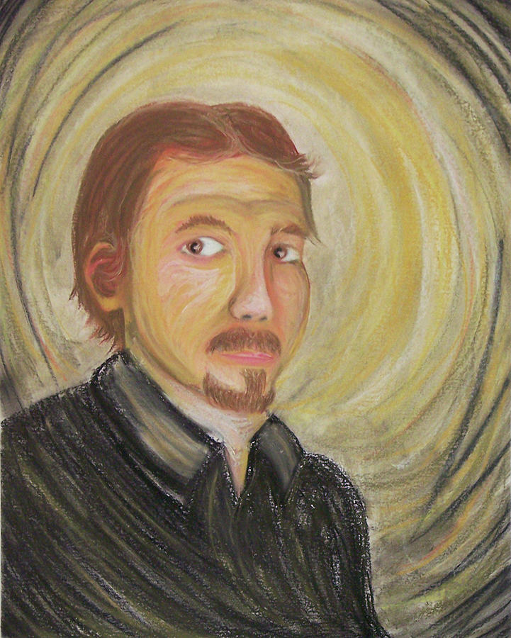 Pastel - Self Protrait - 24 by Donovan Hubbard