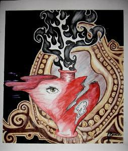 Heart Painting - Self Reflection by Jessica Brown