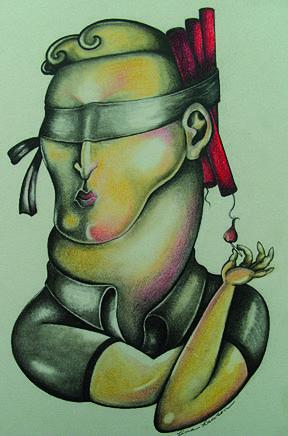Self Sabotage Painting by Lina Scarfi