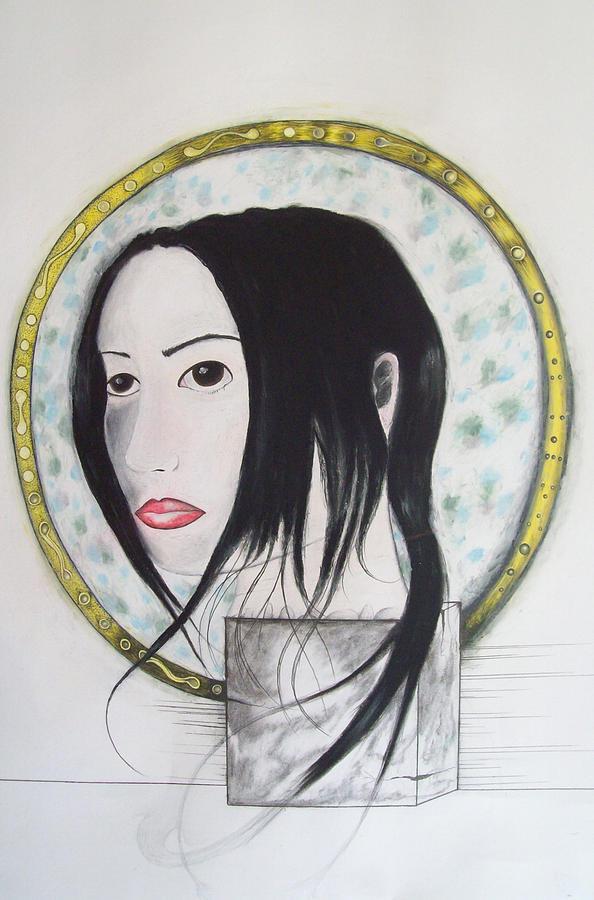 Portrait Mixed Media - Self Saint by Justin D B