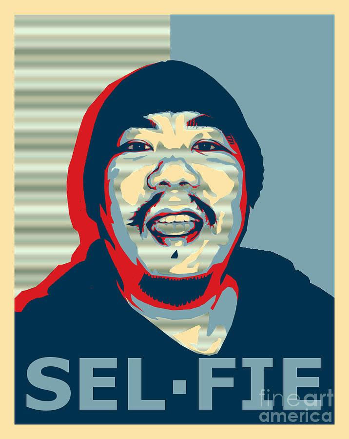 selfie obama hope poster style ish digital art by tin tran