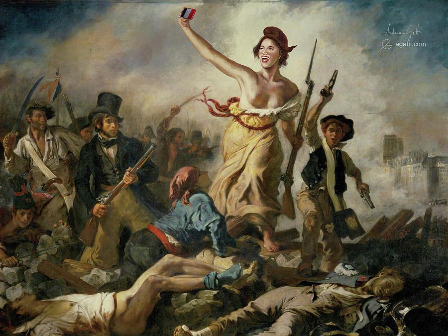Selfie Digital Art - Selfie, Stupidity Leading The People by Andrea Gatti
