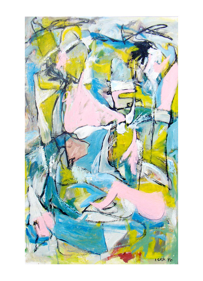 Abstract Painting - Selfies In September  by Drew Eurek