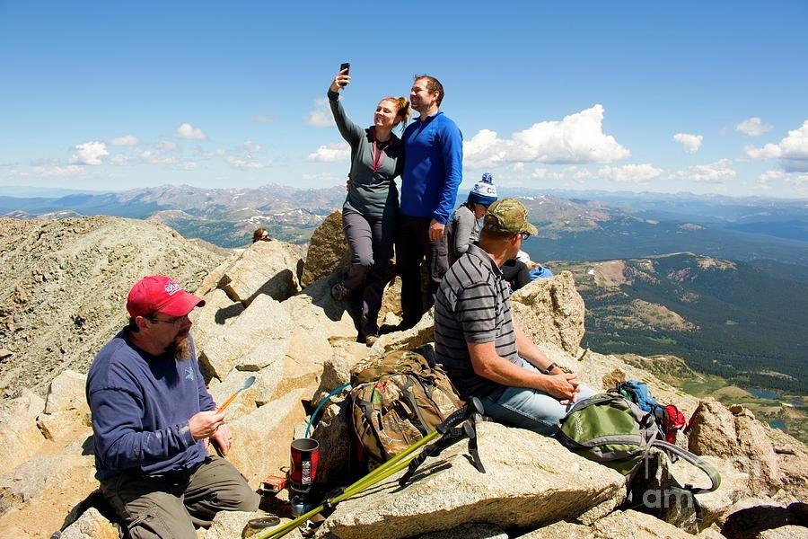Selfies  The Mount Massive Summit Photograph