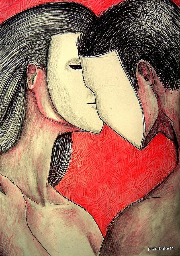 Couples Digital Art - Selfish Relationships by Paulo Zerbato