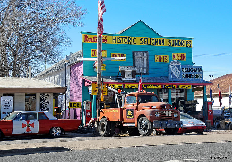 Route 66 Photograph - Seligman Sundries on Historic Route 66 by Victoria Oldham