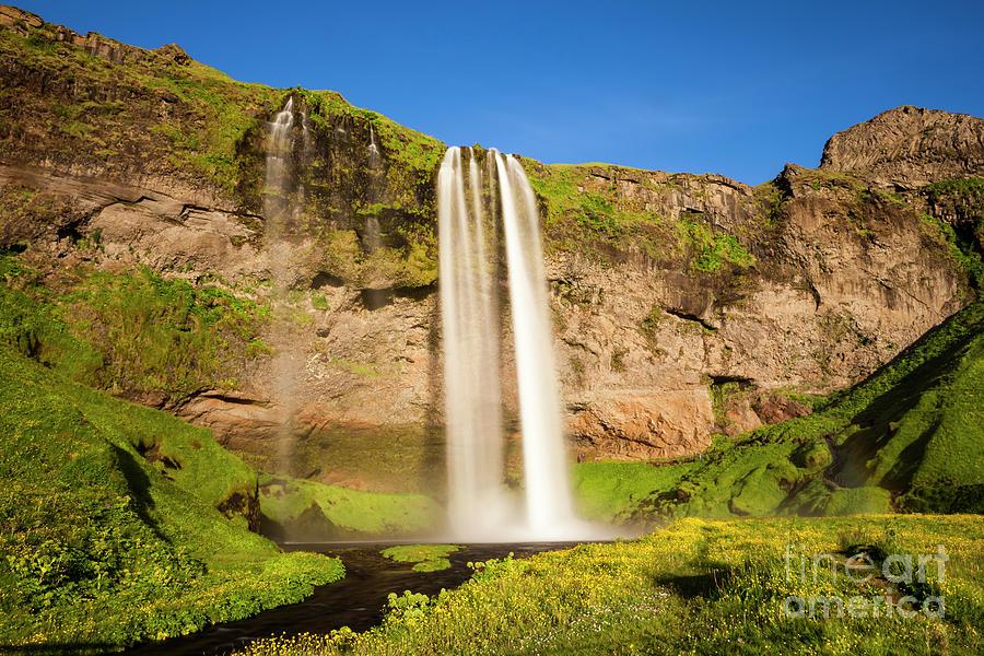 2016 Photograph - Seljalandsfoss In Iceland by Agusta Gudrun  Olafsdottir