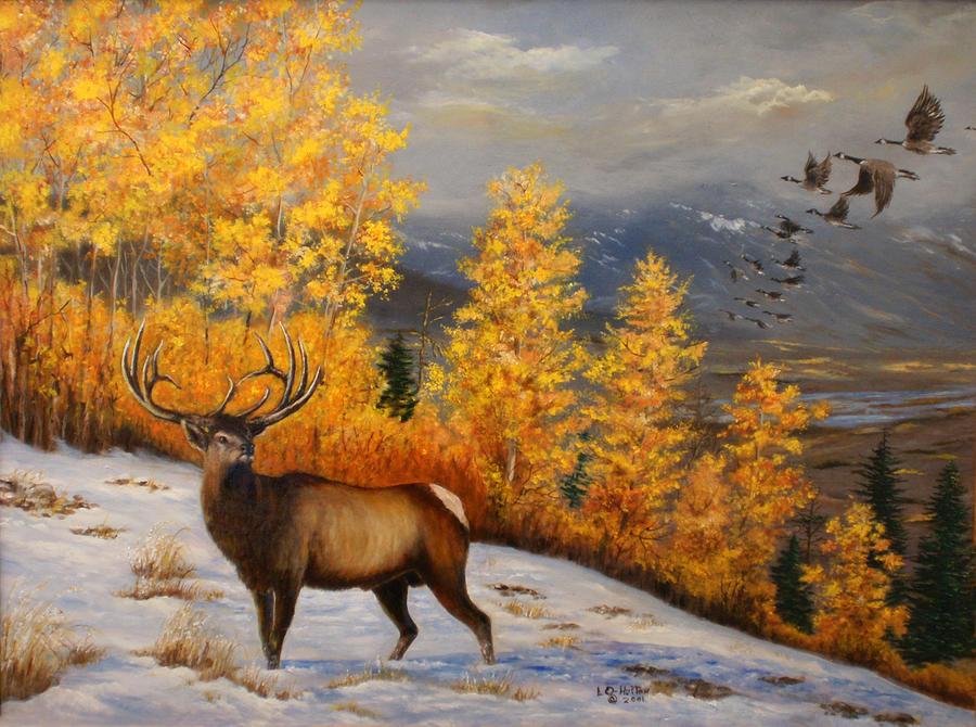 Selkirk Elk Painting By Lucille Owen Huston