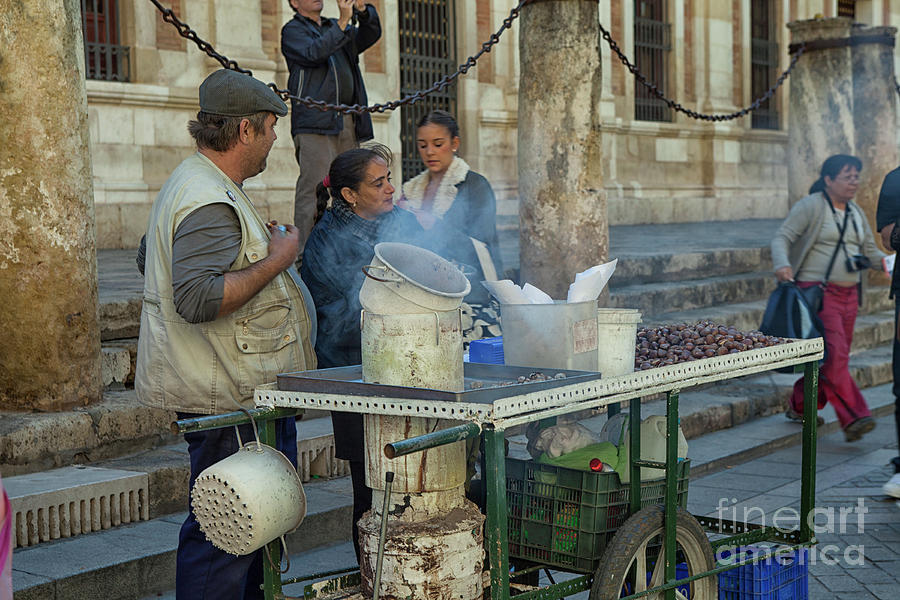 Alfresco Photograph - Selling And Roasting Chestnuts by Patricia Hofmeester