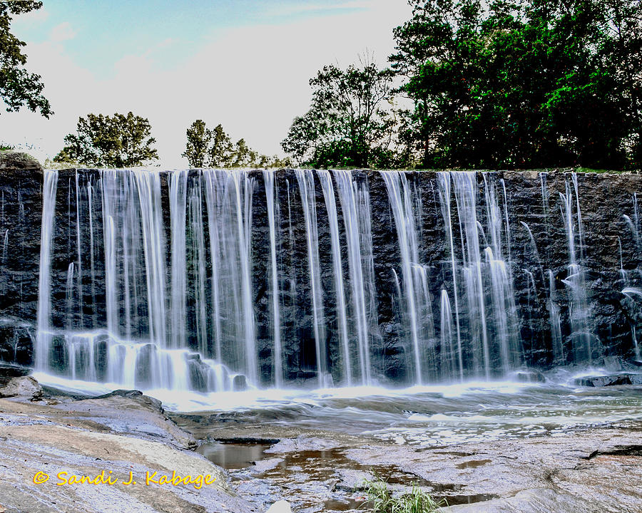 Waterfall Photograph - Sells Mill Waterfall by Sandi Kabage