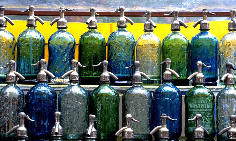 Color Photograph Photograph - Seltzer Bottles by Dan Albright