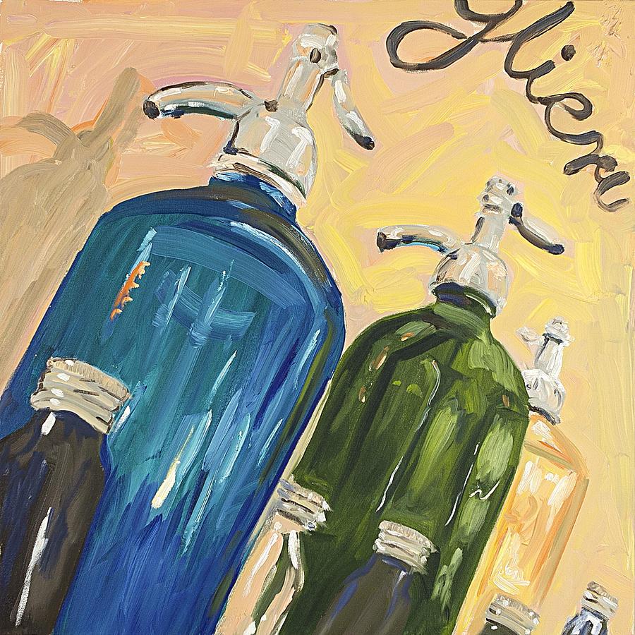 Bar Painting - Seltzer Bottles by Steve Hartman