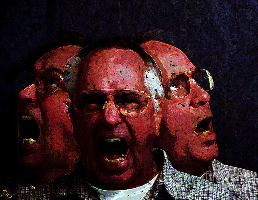 Portrait Digital Art - Selves Portrait by Ron Bissett