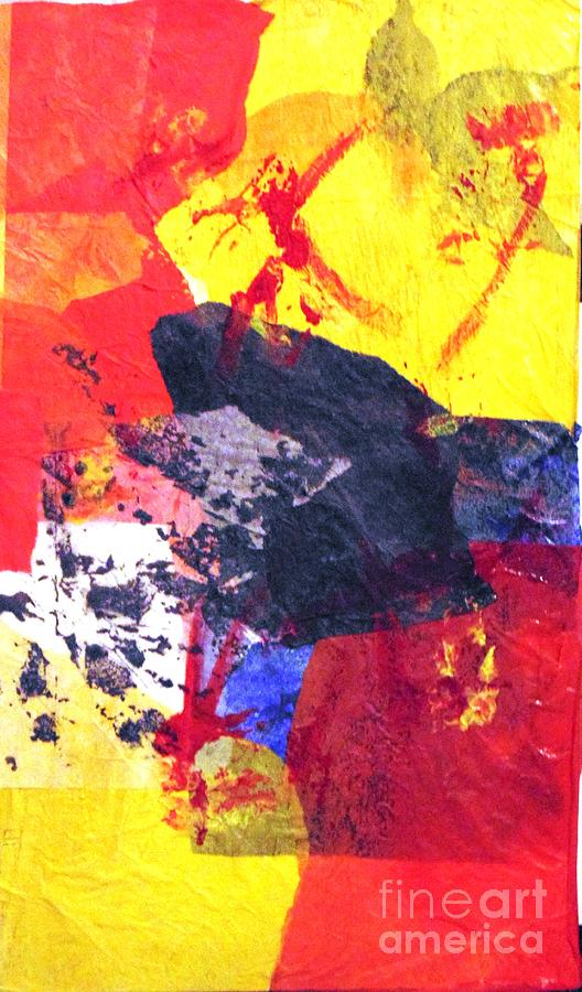 Abstract Painting - Semi-abstract Collage by Joe Hagarty