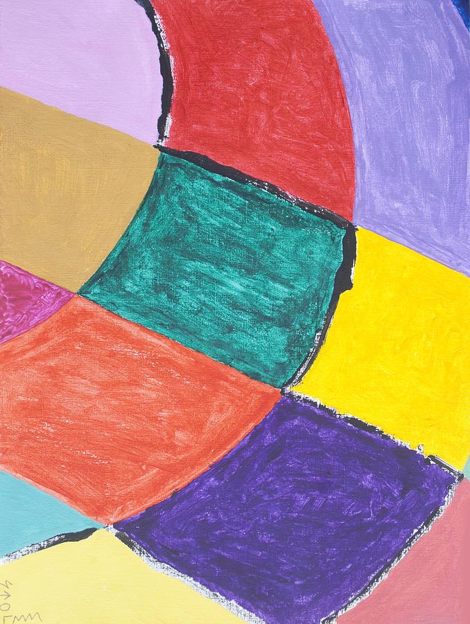 Abstract Painting - Semi Circles by Stormm Bradshaw