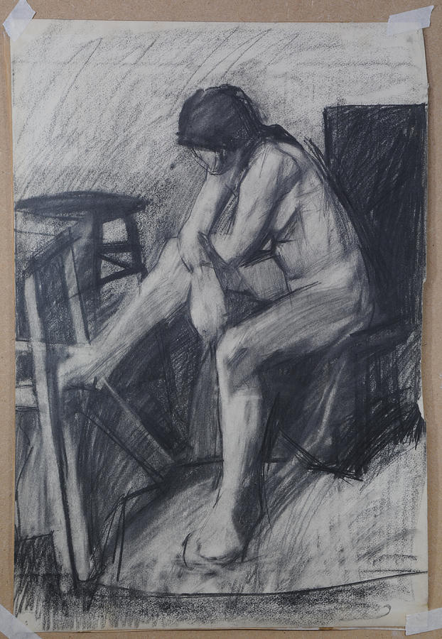 Semi Cubist Life Drawing by Harry Robertson