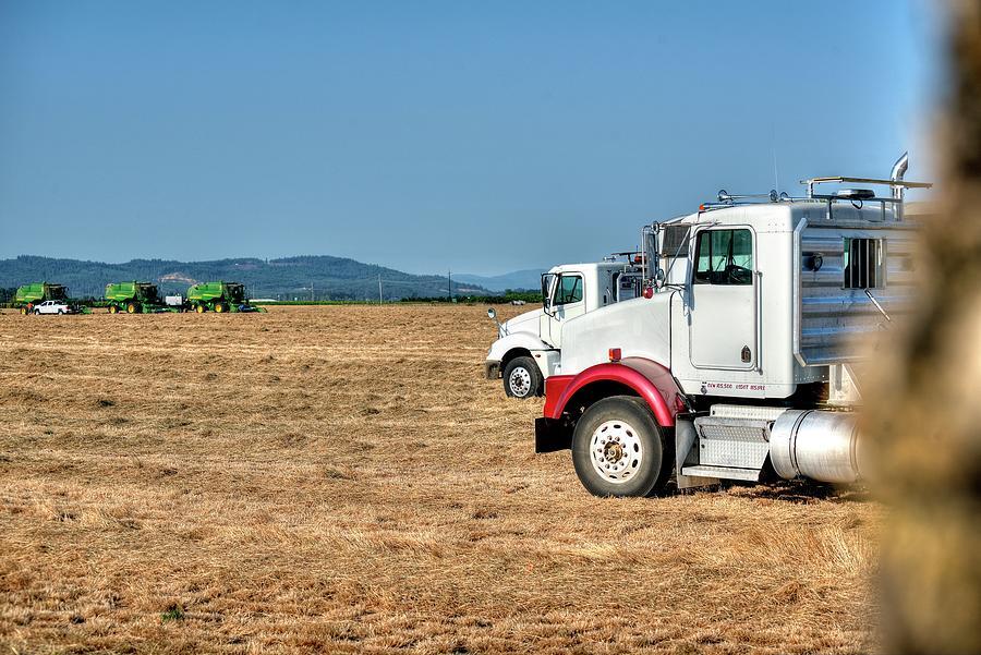 Semi Trucks Ready Photograph