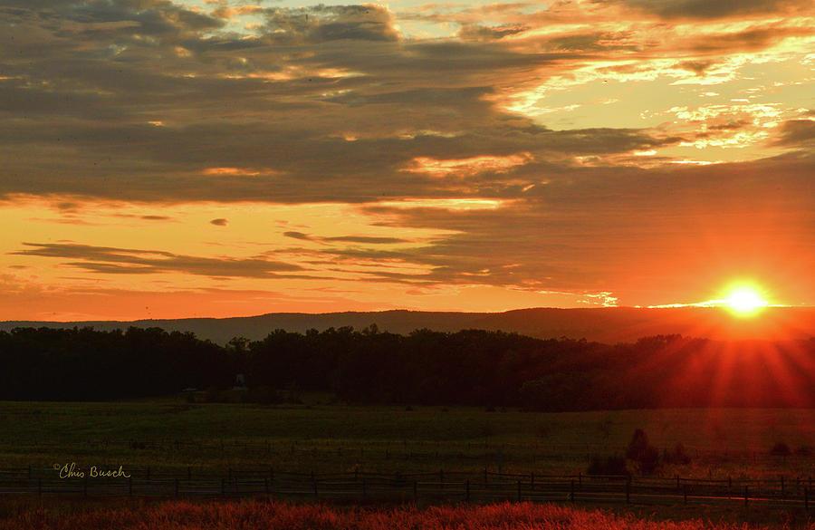 Seminary Ridge Sunset by Chris Busch