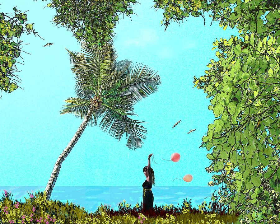 Seascape Digital Art - Send Me A Sign by Tony Rodriguez