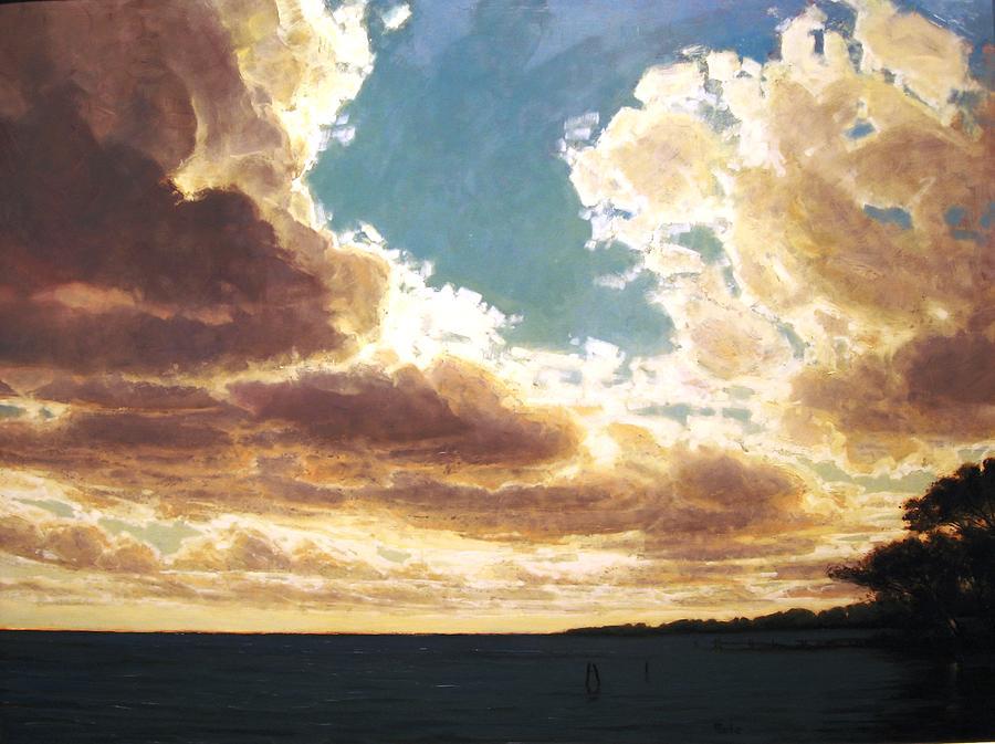 Lanscape Painting - Seneca Light by Martin Poole