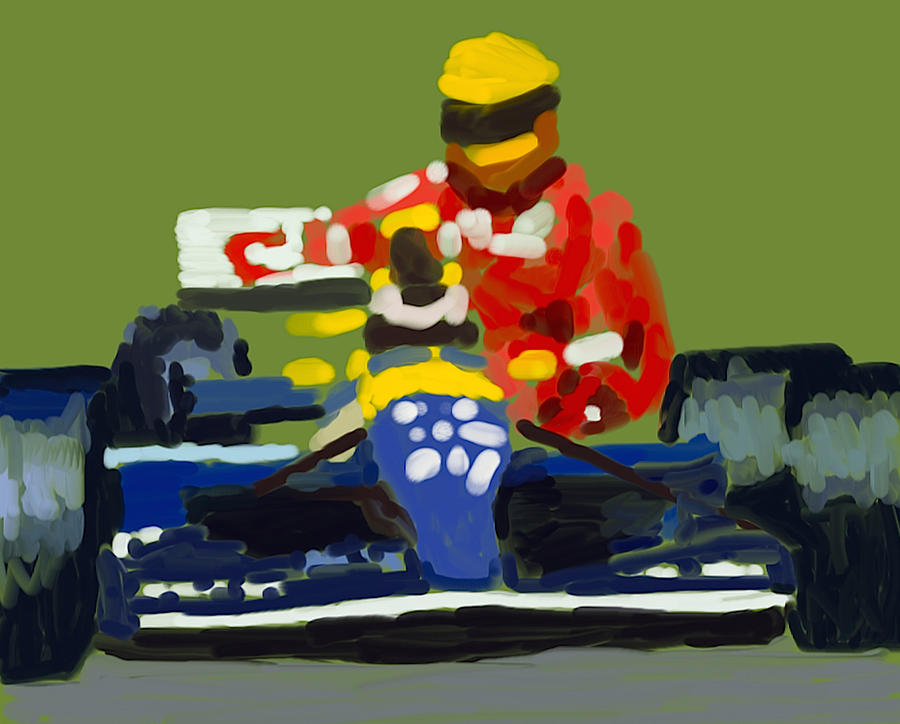 Ayrton Senna Poster Digital Art - Senna And Mansell by Paul Maher