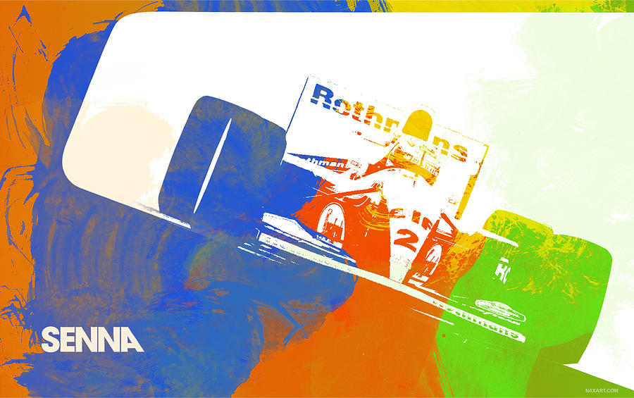 Ayrton Senna Digital Art - Senna by Naxart Studio