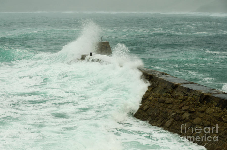 Sennen Photograph - Sennen Cove Breakwater by Steev Stamford