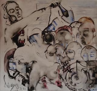 Reporter Painting - Sensation-seeking by Lilli  Ladewig