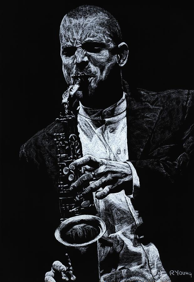 Musician Pastel - Sensational Sax by Richard Young
