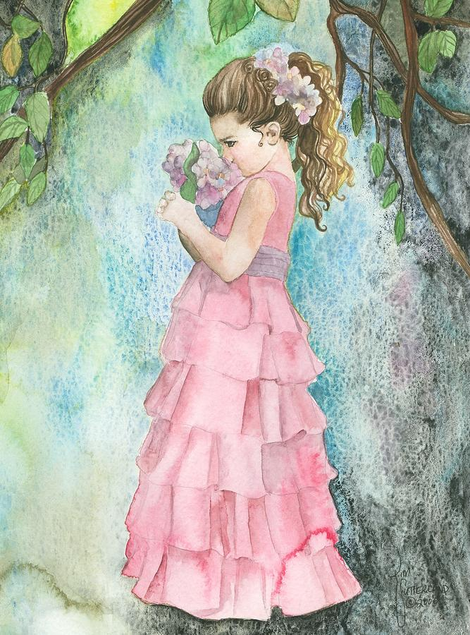 Girl Painting - Senses Abound by Kim Sutherland Whitton