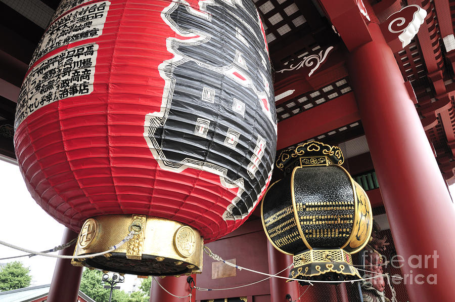 Japanese Photograph - Sensoji Lanterns by Andy Smy