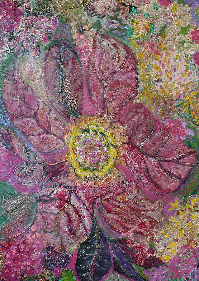 Flowers Mixed Media - Sensual Floral From The Heart Through The Veins by Anne-Elizabeth Whiteway
