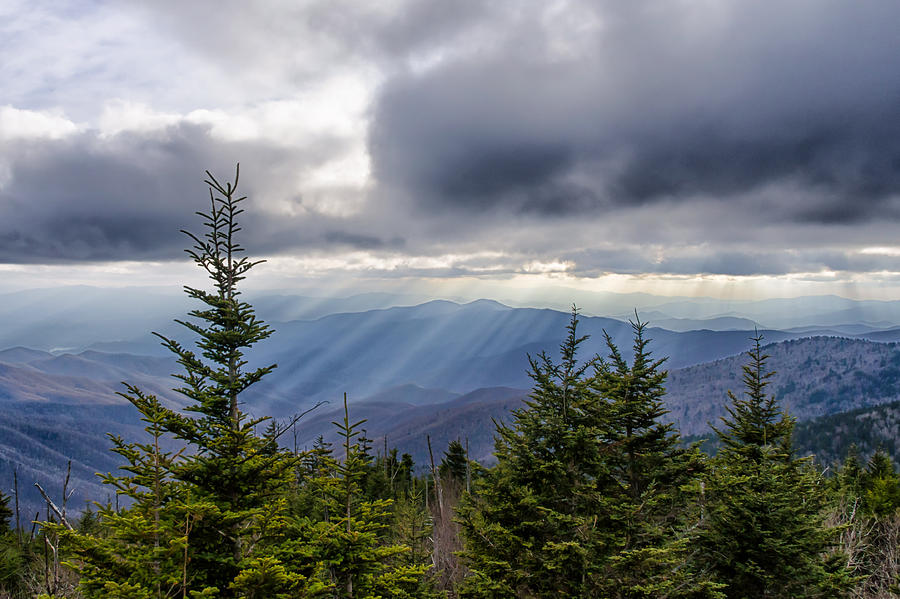 Clingmans Dome Photograph - Sent From Heaven by Kristina Plaas