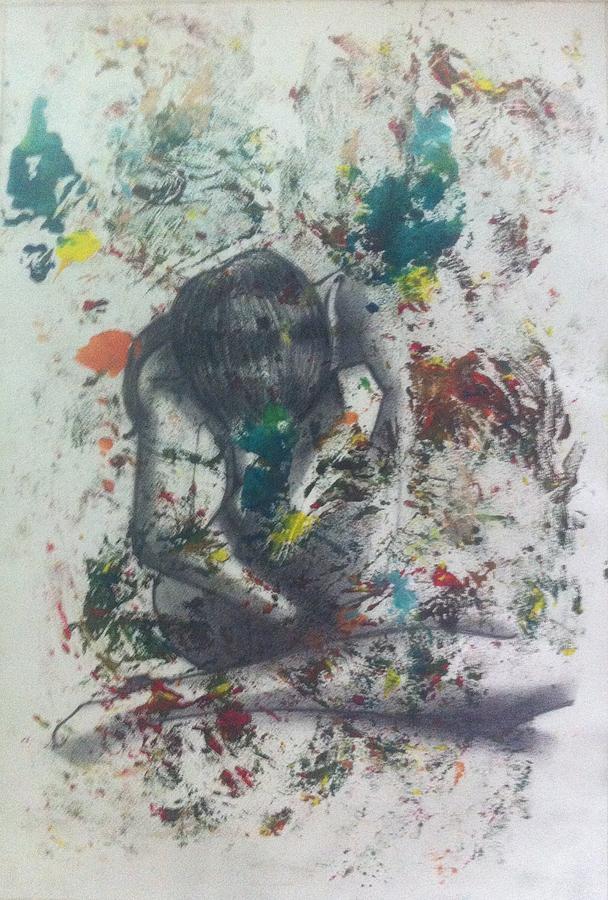 Women Painting - Sentimientos encontrados by Carlos Paredes