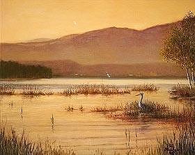 Landscape Painting - Sentinel At Ausable Pt. by David Olander