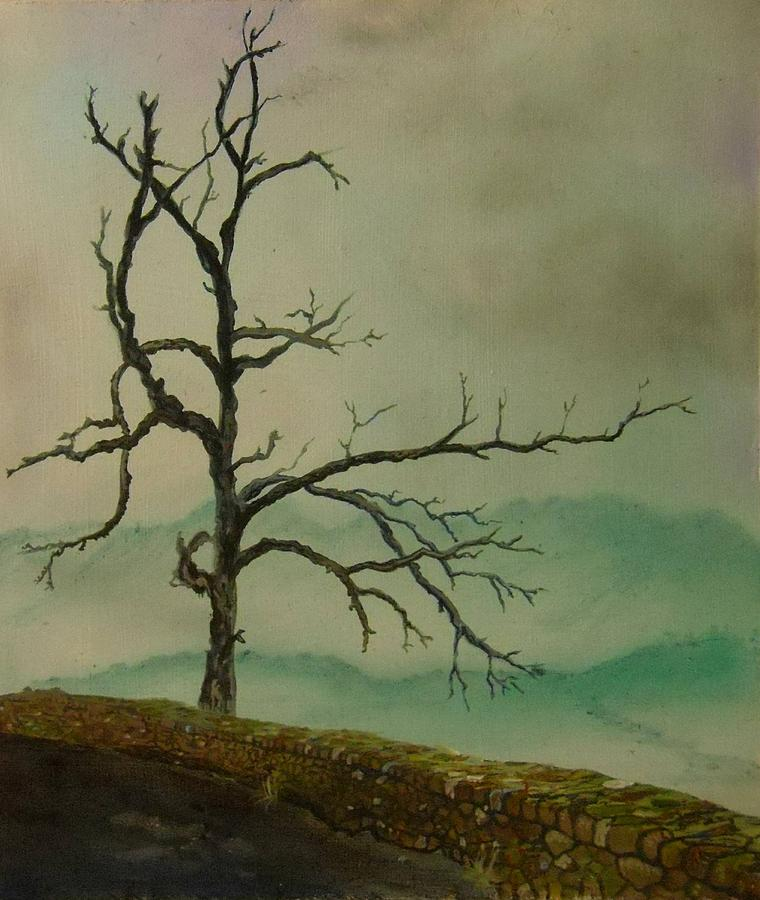 Tree Painting - Sentinel Of The Shenandoah  by Nicole Angell