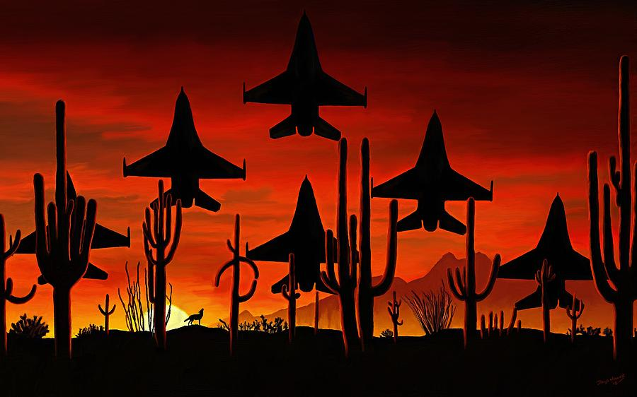 Desert Painting - Sentinels by David Wagner