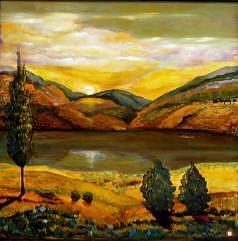 New Mexico Painting - Sentinels On Hondo Mesa by Judith DAgostino