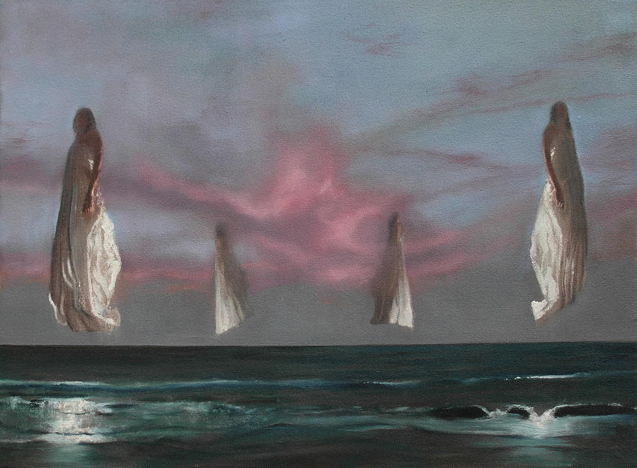 Seascape Painting - Sentinels by Robert Williams