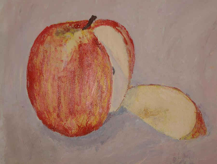Apple Painting - Separation by Keith Newton