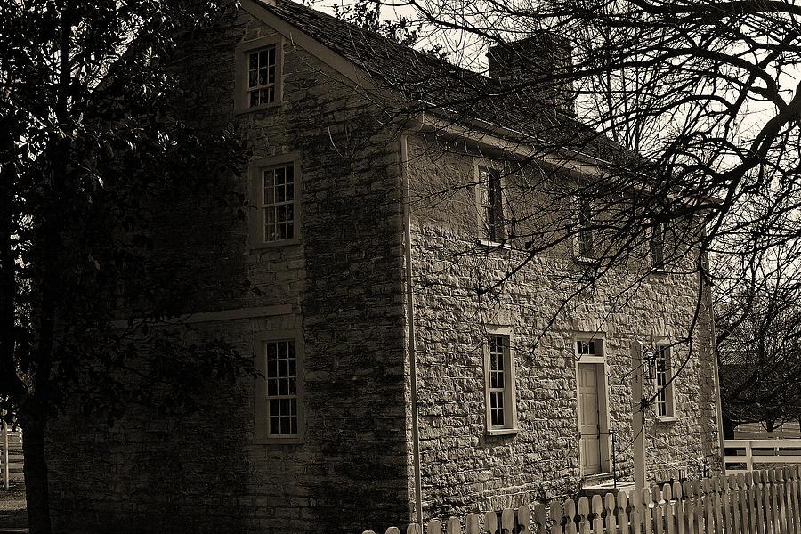 Architecture Photograph - Sepia Farm Deacon by Lone Dakota Photography