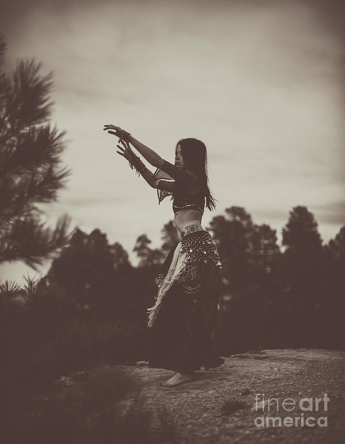 Sepia Forest Belly Dance by Scott Sawyer