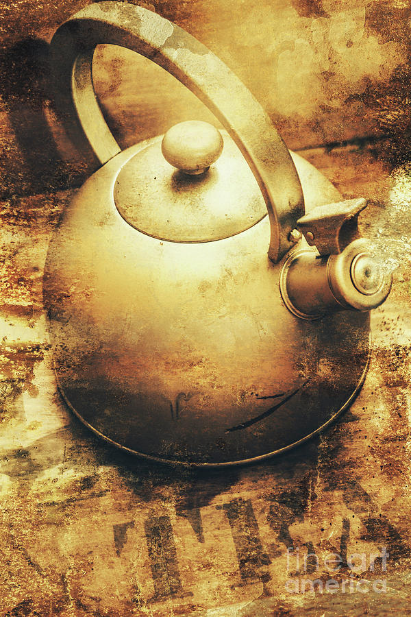 Vintage Photograph - Sepia Toned Old Vintage Domed Kettle by Jorgo Photography - Wall Art Gallery