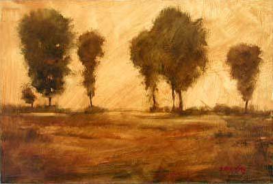 Sepia Trees Painting by Shirley McKay