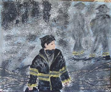 Sept.11 2001 Painting by Kathy Young